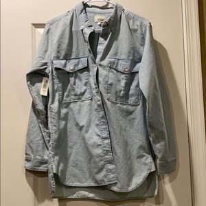 Wilfred Free Oversized Jean Button Down Size M